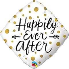 """18"""" Happily Ever After Gold Dots"""