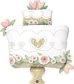 "41"" Gold Wedding Cake"