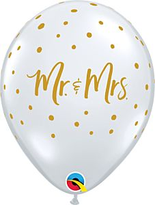 """11"""" Mr. and Mrs. Dots Clear Latex"""