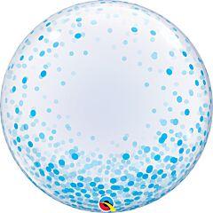 """24"""" Blue Confetti Dots Bubble"""