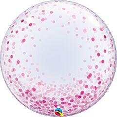 """24"""" Pink Confetti Dots Bubble"""