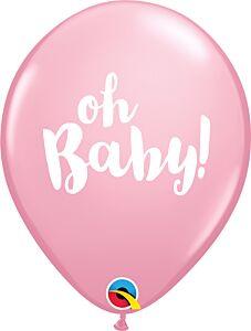 "11"" Qualatex Oh Baby Latex - Pink"