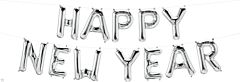 """16"""" Northstar Happy New Year Silver Kit"""