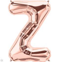 """34"""" Northstar Rose Gold Letter Z"""