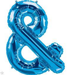 """34"""" Northstar Blue Symbol Ampersand"""