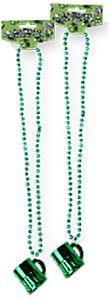 St. Patrick's Beads with Mug Necklace