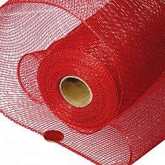 "21""X 10 Yd Floral Mesh - Red"