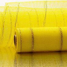 """21"""" x 10 Yard Mesh Ribbon - Yellow"""