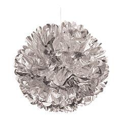 """16"""" Foil Puff Ball - Silver"""