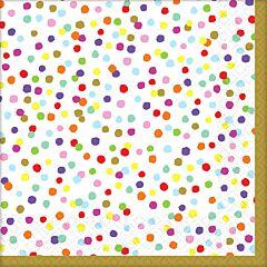 Rainbow Confetti - Bev Napkin