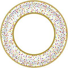 "Rainbow Confetti - 10.5"" Plate"