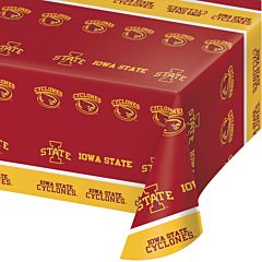 "54X108"" Plastic Table Cover - Iowa State"