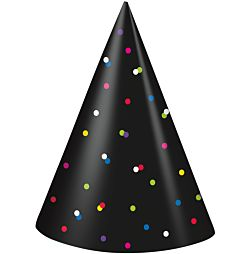 Neon Dots Party Hat