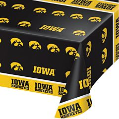 "54"" X 108"" Plastic Table Cover - Iowa University"