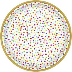 "Rainbow Confetti - 7"" Plate"