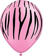 """11"""" Qualatex Zebra Stripes Pink Latex"""