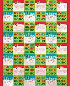 "36"" x 44"" Holly Santa Plastic Bag"