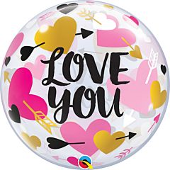 "22"" Love You Hearts and Arrows Bubble"