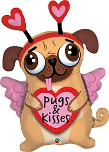 """36"""" Pugs and Kisses"""