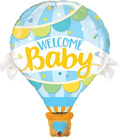 """42"""" Welcome Baby Blue Balloon"""