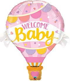 """42"""" Welcome Baby Pink Balloon"""