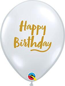 "11"" Qualatex Birthday Brush Script Latex"