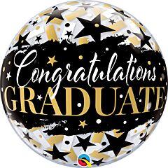 """22"""" Graduate Black Stars Bubble"""