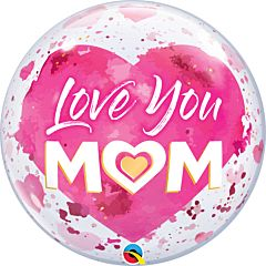 """22"""" Love You Mom Pink Bubble"""