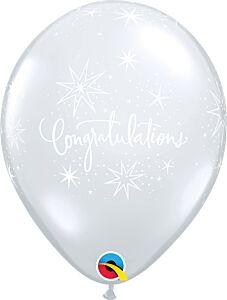 """11"""" Congrats Elegant Clear Latex"""