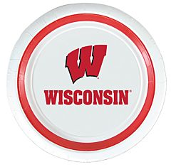 """University of Wisconsin - 9"""" Paper Plate 10Ct"""