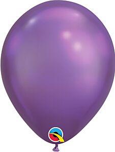 "7"" Qualatex Chrome Purple Latex"