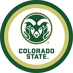 "Colorado State - 7"" Paper Plate 12Ct"