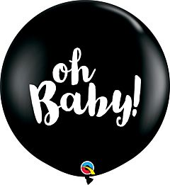 "36"" Oh Baby Latex - Onyx Black"