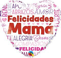"""18"""" Felicidades Mama Words"""