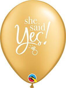 """11"""" She Said Yes Latex"""