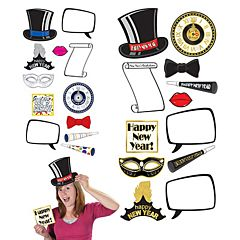 New Year Photo Signs 12 Pack