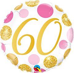 "18"" Pink/Gold Dots 60"
