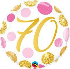 "18"" Pink/Gold Dots 70"
