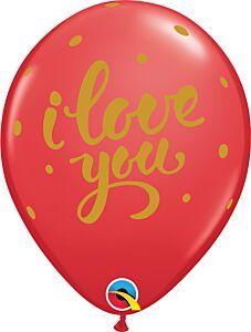 """11"""" I Love You Bold Script Latex"""