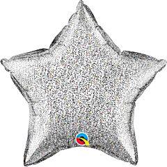 "20"" Silver Glitter Star"