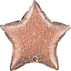 """20"""" Rose Gold Glitter Star"""