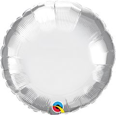 "18"" Chrome Silver Round"