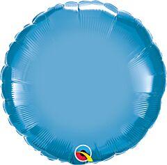 """18"""" Chrome Blue Round"""