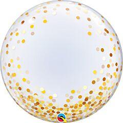 """24"""" Gold Confetti Dots Deco Bubble"""
