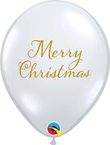 "11"" Merry Christmas Latex Clear"