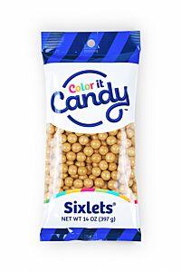 14 oz Sixlets - Shimmer Gold