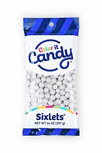 14 oz Sixlets - Shimmer White