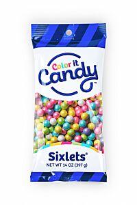14 oz Sixlets - Shimmer Spring Mix