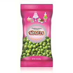 14 Ounce Sixlets - Shimmer Lime Green