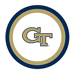 "Georgia Tech - 7"" Paper Plate 12Ct"